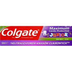 Colgate Maximum Cavity Protection Junior 6 lat+ Pasta z zawartością fluoru i wapnia 50 ml