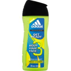 Adidas Get Ready 3 Żel pod prysznic do ciała włosów i twarzy 250 ml