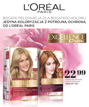 Loreal farby Excellence promocja
