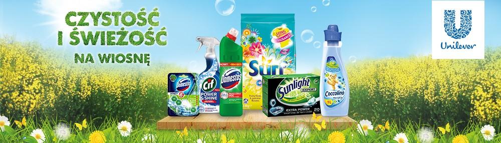 Wiosenne porządki z Domestos, Cif, Sunlight, Coccolino, Surf