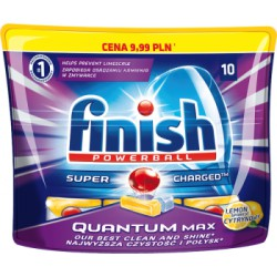 Finish Tabletki do zmywarki Quantum Max Lemon 155 g 10szt width=