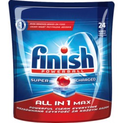 Finish Powerball All in 1 Max Shine&Protect Tabletki do mycia naczyń w zmywarkach 451 g (24 sztuki)