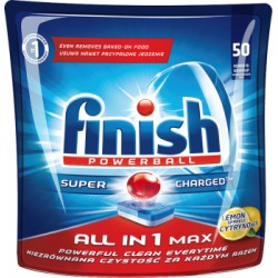 Finish All in 1 Max Lemon Tabletki do zmywarki 905 g (50 sztuk)