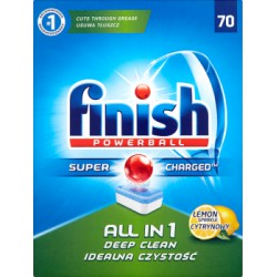 Finish Tabletki do zmywarki All in 1 Lemon 1267g 70 szt width=