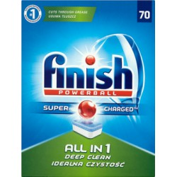 Finish Tabletki do zmywarki All in 1 1267g 70 sztuk width=