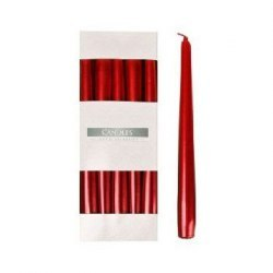 Bispol świeca stożkowa s30-230 czerwony metalik 10szt