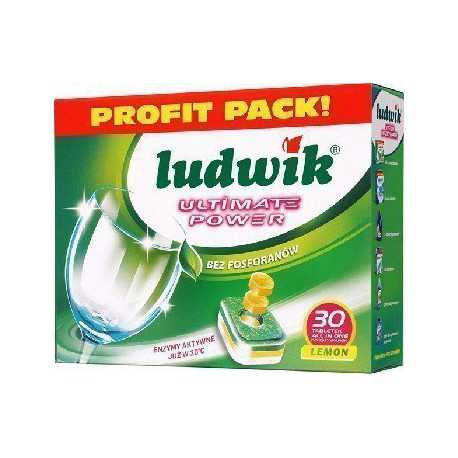 Ludwik Ultimate Power All in one Lemon Tabletki do zmywarek 540 g (30 sztuk)