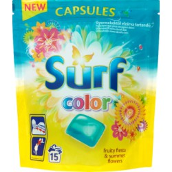 Surf Color Fruity Fiesta & Summer Flowers Kapsułki do prania 394 g (15 sztuk)