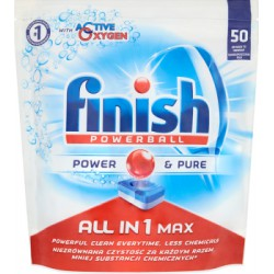 Finish All in 1 Max Power & Pure Tabletki do zmywarki 905 g (50 sztuk)