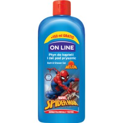 ON LiNE DISNEY Płyn do kąpieli i żel 2 w 1 SPIDERMAN melon 400 ml 150ml GRATIS!