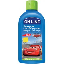 ON LiNE DISNEY Szampon i żel 2 w 1 CARS banan 250 ml