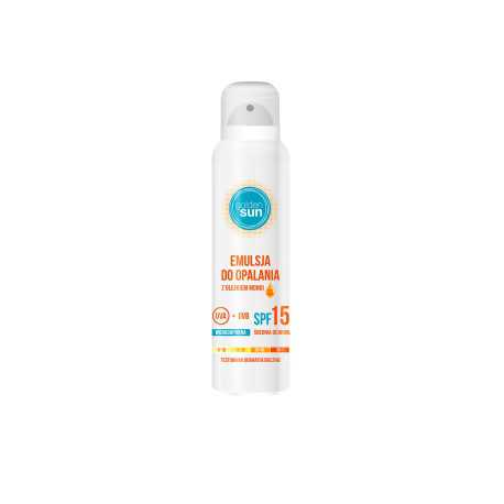 Emulsja do opalania Golden Sun wodoodporna Spray SPF15 140ml