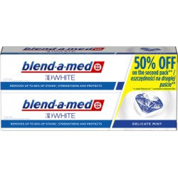 Blend-a-med 3DWhite Delicate Mint Pasta do zębów 2x100 ml