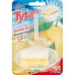 Dwufazowa kostka do wc Tytan cytrynowy koszyczek 40g