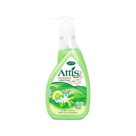 Attis natural 400ml mydło w płynie /oliwka i ogórek/