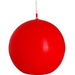 Bispol świeca kula czerwona 1szt SK80-030