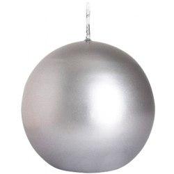 Bispol świeca kula srebrna 1szt SK80-271