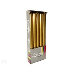 Bispol świeca stożkowa s30-213 złoty metalik 10szt