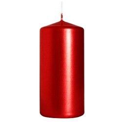 Bispol świeca walec sw50/100 czerwony metalik