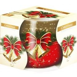 Bispol świeca zapachowa w szkle i folii sn71s- 02 Boże Narodzenie