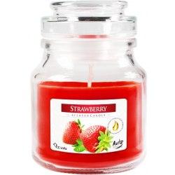 Bispol świeca zapachowa w szkle z wieczkiem słoik Truskawka SND71-67