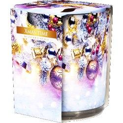 Bispol świeca zapachowa w szkle Świąteczny Czas SN72S-01