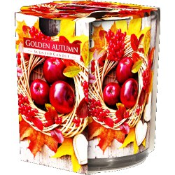 Bispol świeca zapachowa w szkle Złota Jesień