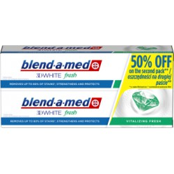 Blend-a-med 3DWhite Vitalizing Fresh Pasta do zębów 2x100 ml