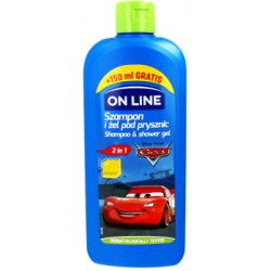 ON LiNE DISNEY Szampon i żel 2 w 1 CARS banan 400 ml