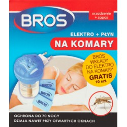 Bros Elektro + płyn na komary 40 ml