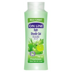 ON LiNE Żel i płyn do kapieli 2 w 1 Freshness 750 ml width=