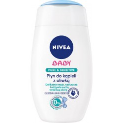 Nivea Baby Pure & Sensitive Płyn do kąpieli z oliwką hipoalergiczny 200 ml width=