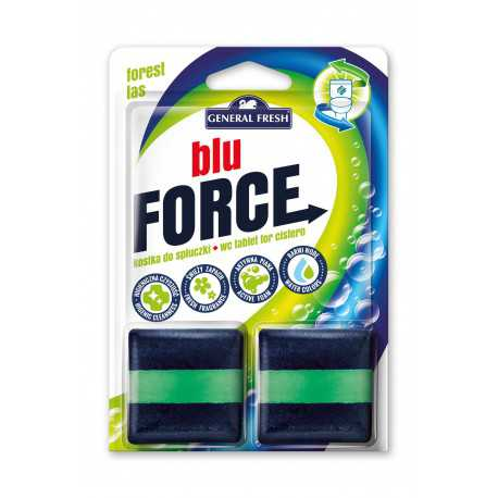 Blue Force kostka do spłuczki kwadrat 50g 2szt General Fresh las