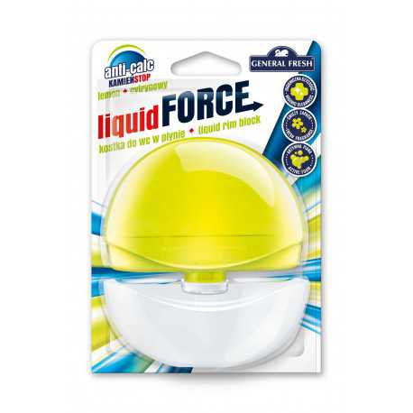 General Fresh Liquid Force kostka do WC w płynie 55ml cytryna