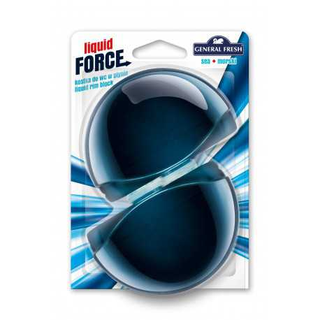 General Fresh Liquid Force zapas do kostki do WC w płynie 2szt morze