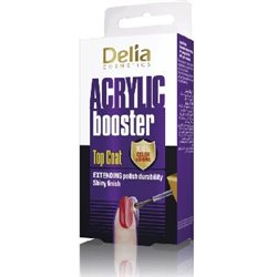 Delia Coral Top Coat Acrylic Booster do paznokci 11ml width=
