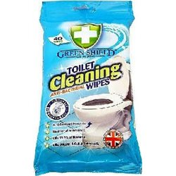 Green Shield Toilet Cleaning Wipes nawilżone chusteczki do toalety 40szt width=