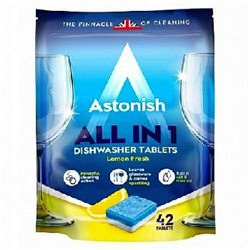 Astonish tabletki do zmywarek All in One Lemon 42szt width=
