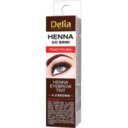Delia Cosmetics Henna do brwi tradycyjna 4.0 brown